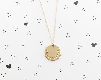 Mouseketeer Necklace // Disc Necklace