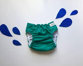 Ocean Teal Reusable Swim Diaper - Medium Swim Diaper - PUL Swim Diaper