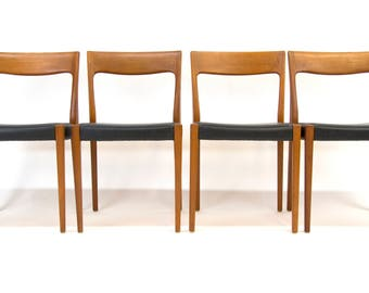 Four teak chairs by Svegards Markaryd Sweden 1960s. Mid Century Modern. MCM
