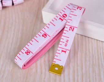 "Red & White Tape Measure 150cm / 60"""