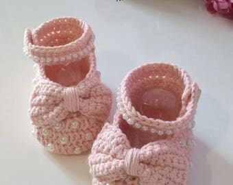 Baby girl Shoes crocheted