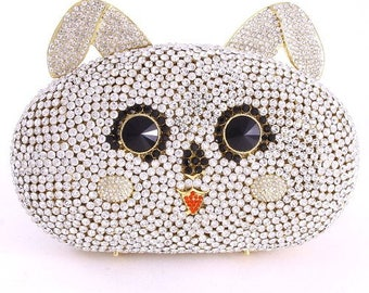 Crystal Cat Evening Bag
