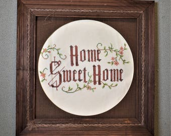 Home Sweet Home Finished Cross Stitch