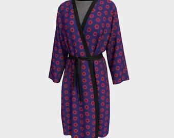PH Fishman Robe Dressing Gown Long Robe Bathrobe