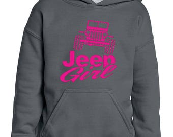 Jeep Girl Humor Trucks Gift for Christmas Birthday Match with Jeans Leggings Hats Girls Boys Youth Kids Hoodie