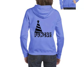 Funcle Fun Uncle Christmas Birthday Fathers Day Gift Match with Hats Jeans Shoes Full-Zip Women's Hoodie