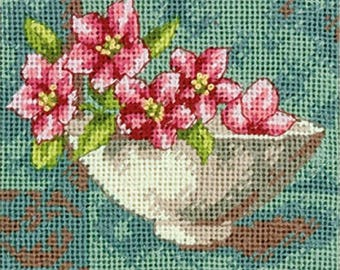Vintage Blossoms Needlepoint Kit- SHIPS FREE -