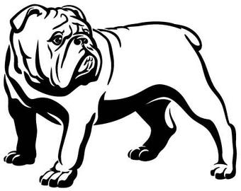 English bulldog svg | Etsy
