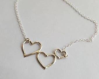 Beautiful Silver Hearts.