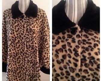 Anniversary Sale Cool Fleece Leopard Print Coat