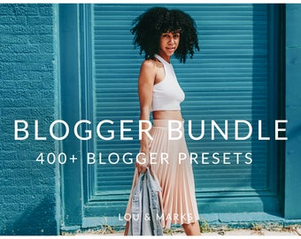 400+ Blogger Lightroom Preset Collection for Fashion, Portraits, Products, Food, and Modern Photography by Lou & Marks
