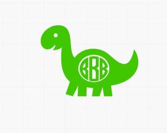 Dinosaur Monogram // Dinosaur Sticker // Monogram decal / Car decal / Door decal / Decal for little boys / laptop sticker / monogram sticker