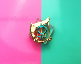 Mercury Senshi Badge Pin
