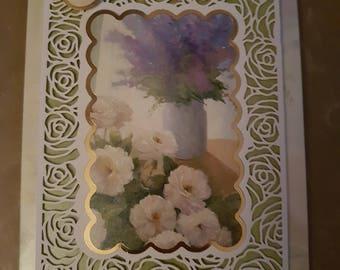 Enjoy your day floral birthday card