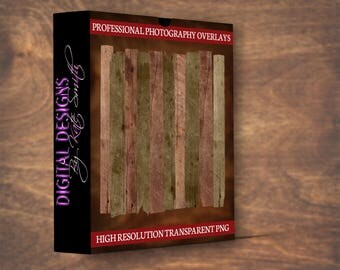 20 x Wooden Plank Overlays, Separate PNG Files, High Resolution, Instant Download.