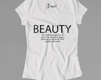 Beauty definition - Woman's t-shirt - Dictionary tee - beautiful style