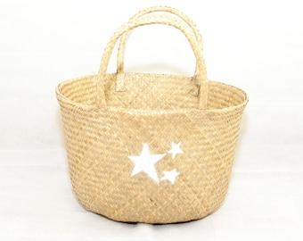 Large Seagrass Storage basket, laundry basket, toy basket, shoe basket, newspaper basket, home gift, gifts for her