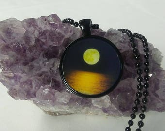 Moon over water necklace