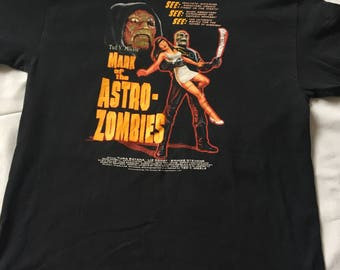 T-shirt mark or the astro zombie/Free shipping