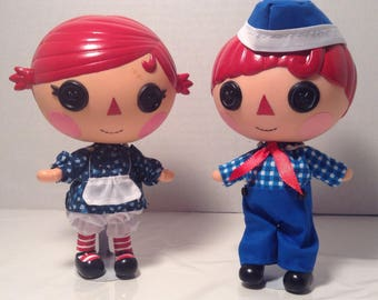 Raggedy Ann and Andy doll lalaloopsy repaint