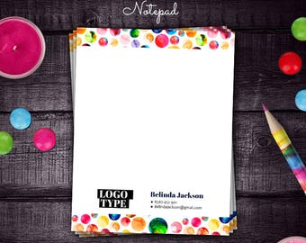 Rainbow Dot Dot Smile Notepad, DDS Note Card, for Merchandiser