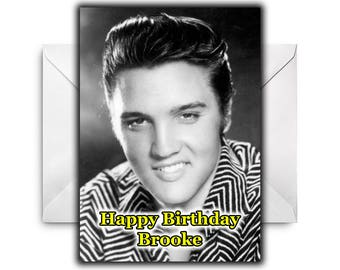 ELVIS PRESLEY Personalised Birthday / Christmas / Greetings Card