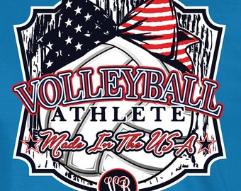 Made in the USA - Volleyball T-shirt