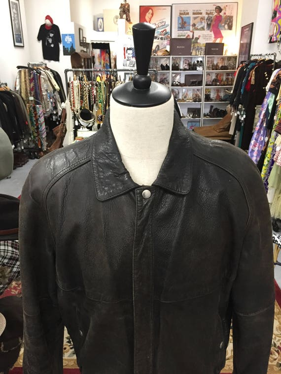 Men's Vintage 1980s Mario Zarelli Soft Brown Leather Jacket