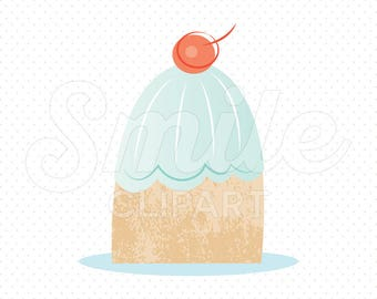 FROSTED PUDDING Clipart Illustration for Commercial Use | 0080