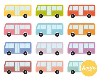 Bus Clipart Illustration for Commercial Use | 0217