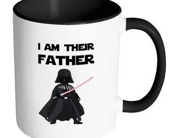 Funny Fathers Day Mug | Star Wars Mug | Darth Vader Mug | Sci Fi Parody