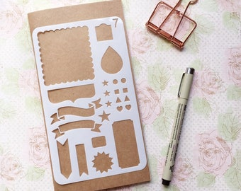 Bullet Journal Stencil #7 - Planner, Journal, Craft, Scrapbooking, Decoration