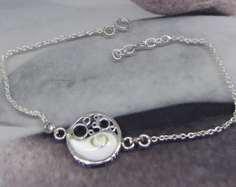 Bracelet women's silver and Shiva eye