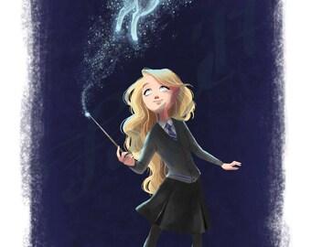 Luna Lovegood Digital Drawing ( Harry Potter )