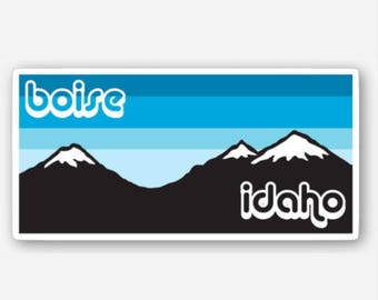 Boise Mountains Blue Sunset - Sticker/Decal