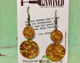 Recycled beer can earrings