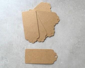 Set of 50 cardboard rectangle labels