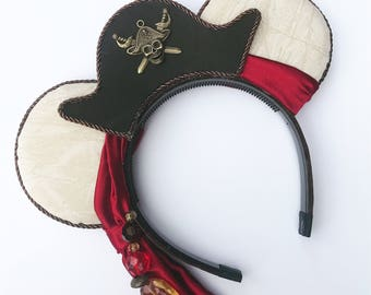 Caribbean Pirate Mouse Ears - Boy Mouse Ears -