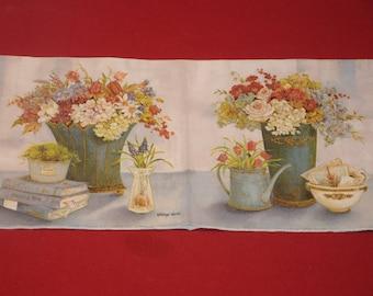 "paper flowers ""bouquet of flowers"" theme towel"