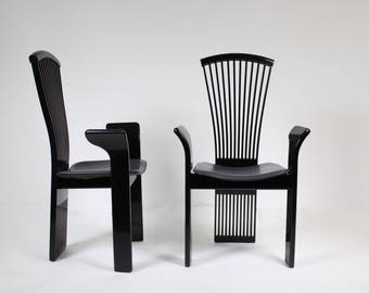 2 Black Constantini Pietro chairs