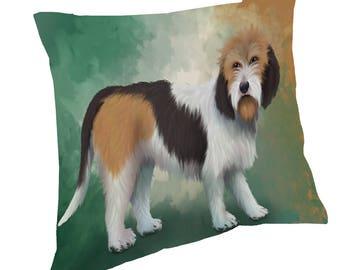 Petit Basset Griffon Vendeen Dog Throw Pillow