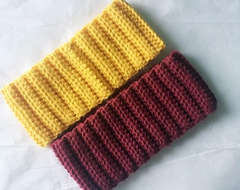 Crochet Earwarmer • Ribbed Earwarmer • Ribbed Crochet Earwarmer