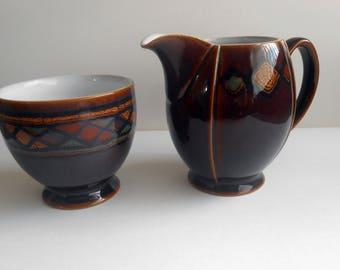 Denby, Shiraz Pattern, Creamer And Sugar Bowl