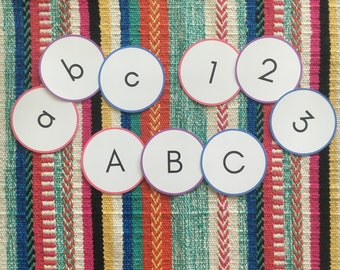 Letter and Number Flashcards - Uppercase / Lowercase - Preschool and Kindergarten Learning