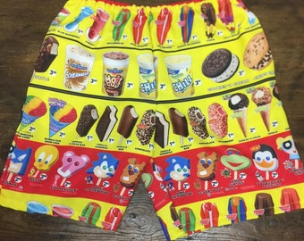 Men's Ice Cream and Popsicle Sublimation Shorts