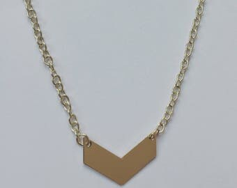 """Dainty gold choker 14"""" with extender"""