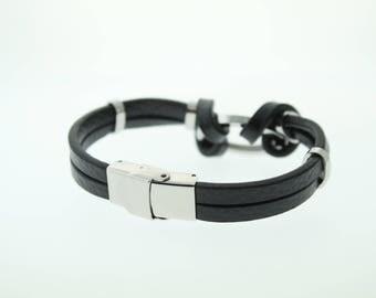 Wynn & Prosper Leather Bracelet with Silver Accents