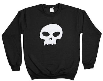 Sid Skull Sweatshirt - Skeleton Biker Death Bad Boy Grim Reaper Heavy Metal Sweater - Mens Womens - Holiday Sweater Pullover Oversize Shirt