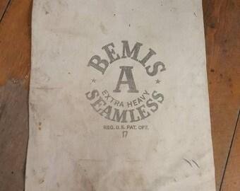 Vintage Bemis Seamless Grain Sack Farmhouse decoration Rustic DIY