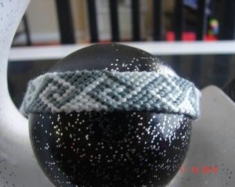 dark grey and light grey spiral Friendship Bracelet